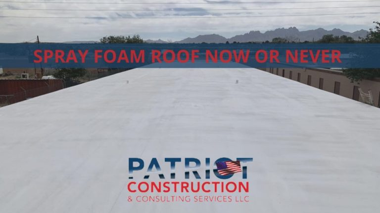 SPRAY ROOFING NOW OR NEVER